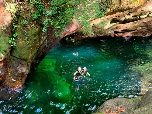 Canyoning basic Corippo, Verzascatal
